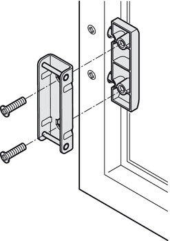 Adapter, for Doors with 20 mm (13/16) Aluminum Frame
