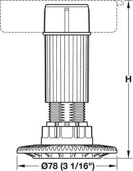 Adjustment Feet, with Screw-In Glide - in the Häfele Canada Shop
