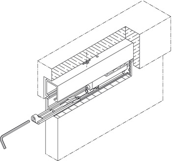 Assembly Wedge, for Doors Running in the Ceiling