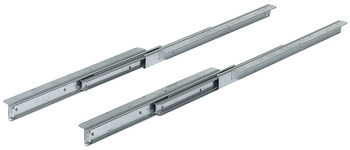 Ball bearing runners, for 1 extension leaf, asynchronous, for tables without frame