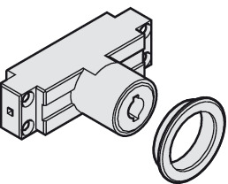 Cylinder module, for round bolt lock