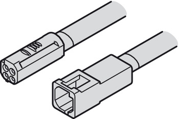Extension lead, Häfele Loox5 multi-white, 12 V, 20 AWG