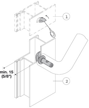 Fastener, Concealed Mount, for Installation on One Side