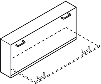 Foldaway Bed Fitting Set, for Lengthwise Mounting