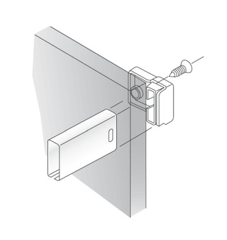 Front Partition Clip, for Grass Zargen Drawer System