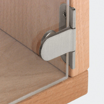 Glass Door Hinge, 180° Opening Angle, 6 mm Glass