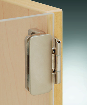 Glass Door Hinge, Aximat®, 230° Opening Angle, Glass to Wood, Inset