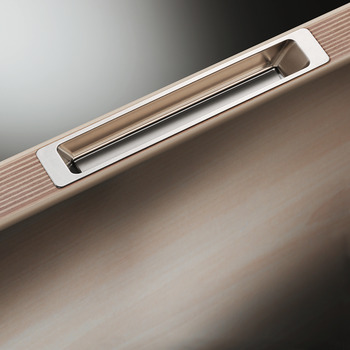 Inset Handle, Aluminium, For Handle Free Furniture Fronts