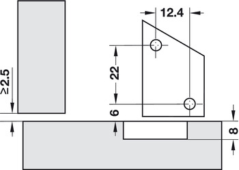 Magnet, Additional for PUSH Hinge, Without Magnetic Release