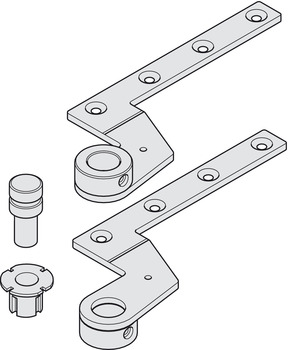 pair of top centres dorma 7411 k 56 for flush doors in the