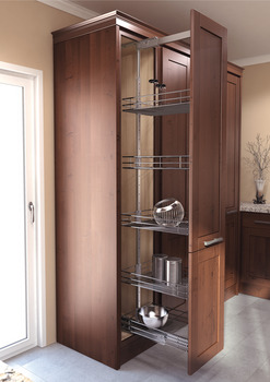 Pull Out Pantry, Cabinet Solution, Saphir - in the Häfele ...