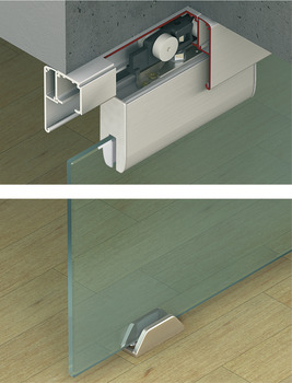 sliding door fitting, Häfele Slido Classic 40-N to 120-N, set without running track