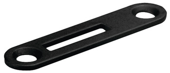 Strike Plate, with Offset Slot, for Hook Lever Lock Cylinder, 49 x 11 mm