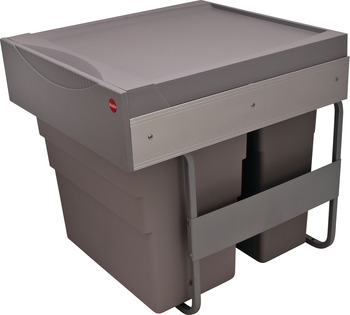 Waste Bin Pull-Out, Double, Hailo Easy Cargo 50
