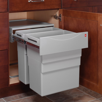 Waste Bin Pull-Out, Hailo Easy Cargo 50, Double