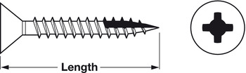 Zip-R Screw, Flat Countersunk Head, #2 Phillips Drive