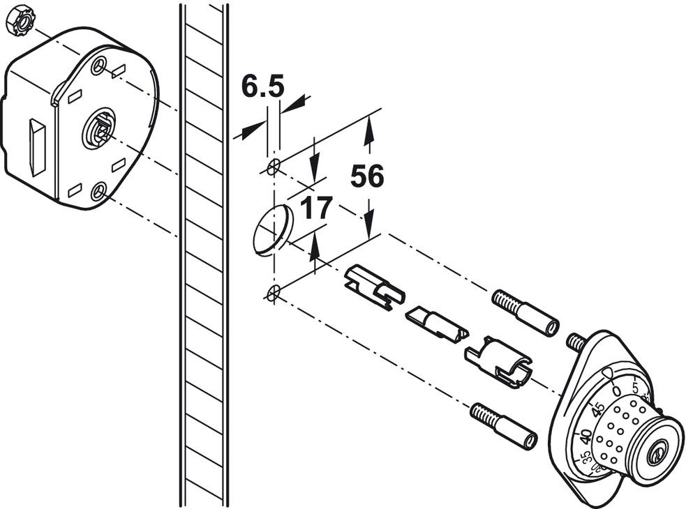 Extension Set For Mastercombi Locker Lock