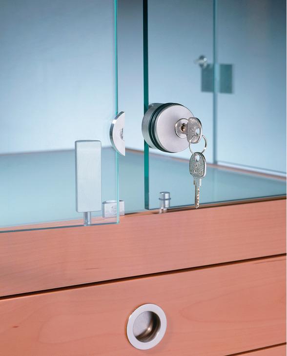 Glass Door Lock For Hinged Doors Symo For Glue Fixing