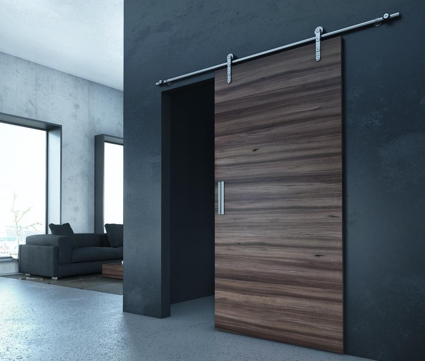 Recessed door connection & Sliding Door Hardware Slido Design 70-V set - in the Häfele Canada ...