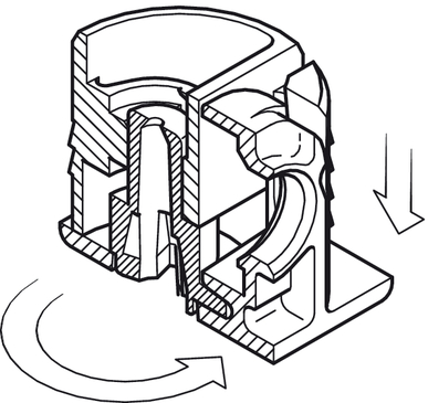 connectors tab v with locking cam plug fit in the h fele canada Haworth Lock Plug tightening the tensioning element in the boss insert locks the shelf in position and connects the support and the boss insert firmly with each other