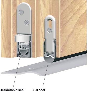 Retractable Door Seal Schall Ex Slide Amp Lock M 20 Ws