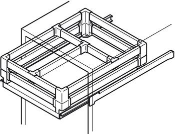 rail s parateur pour syst me de c t s de tiroir en m tal. Black Bedroom Furniture Sets. Home Design Ideas