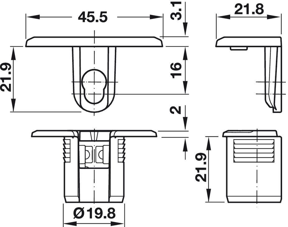 bo tier de ferrure d 39 assemblage tab 20 hc pour panneaux d 39 une paisseur de 32 mm dans la. Black Bedroom Furniture Sets. Home Design Ideas