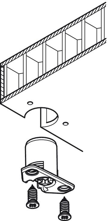 bo tier de ferrure d 39 assemblage tab 20 hc pour panneaux d 39 une paisseur de 40 mm dans la. Black Bedroom Furniture Sets. Home Design Ideas