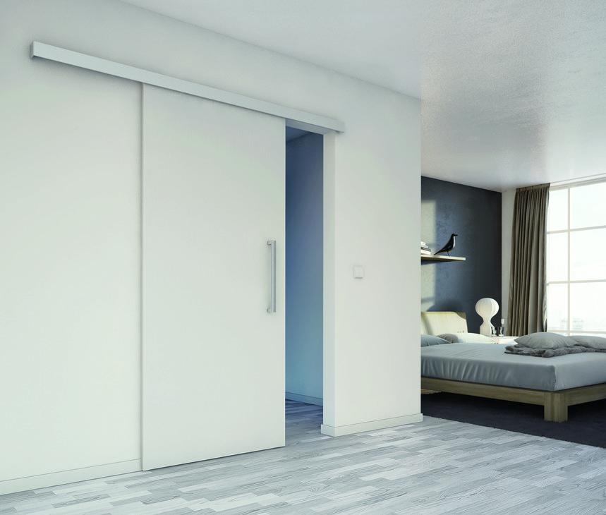 Ferrure pour porte coulissante slido classic 120 p for Porte coulissante fixation plafond