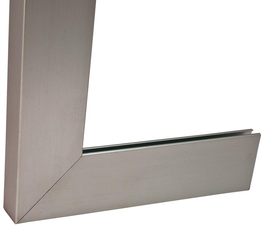 profil de cadre en aluminium pour vitre 38 x 14 mm droit pour paisseur de verre 4 mm dans. Black Bedroom Furniture Sets. Home Design Ideas